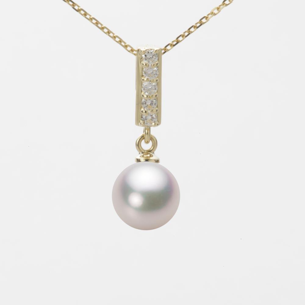 あこや真珠 パール ネックレス 7.5mm アコヤ 真珠 ペンダント K18 イエローゴールド レディース HA00075R12WPG314Y0