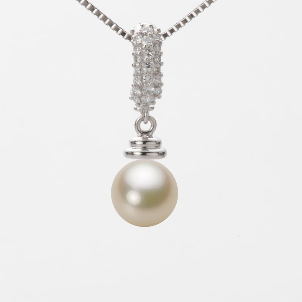 あこや真珠 パール ネックレス 7.5mm アコヤ 真珠 ペンダント K18WG ホワイトゴールド レディース HA00075R13CG0115W0