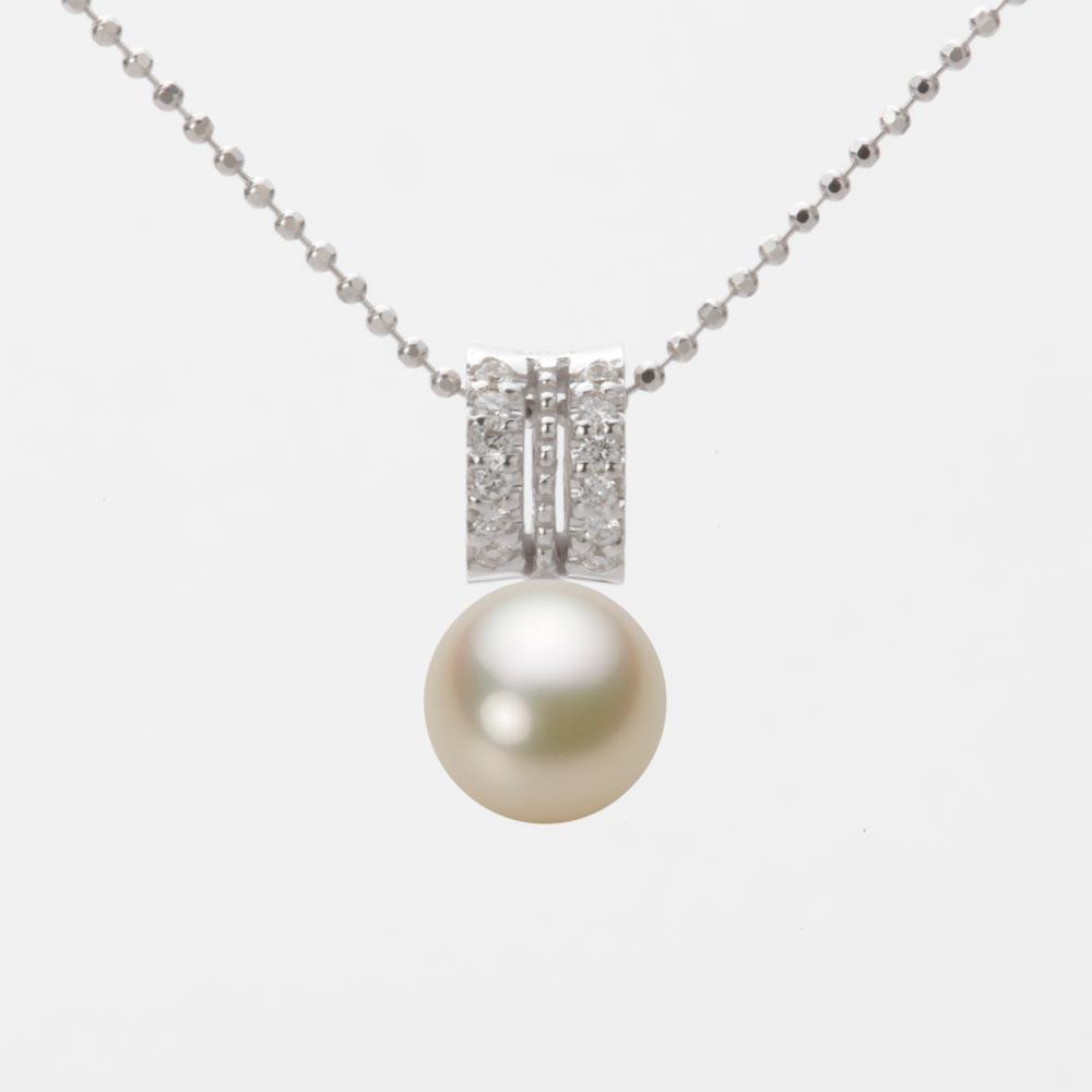あこや真珠 パール ペンダント トップ 7.5mm アコヤ 真珠 ペンダント トップ K18WG ホワイトゴールド レディース HA00075R13CG01278W-T