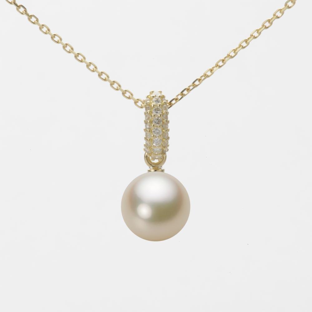 あこや真珠 パール ネックレス 7.5mm アコヤ 真珠 ペンダント K18 イエローゴールド レディース HA00075R13CG01489Y