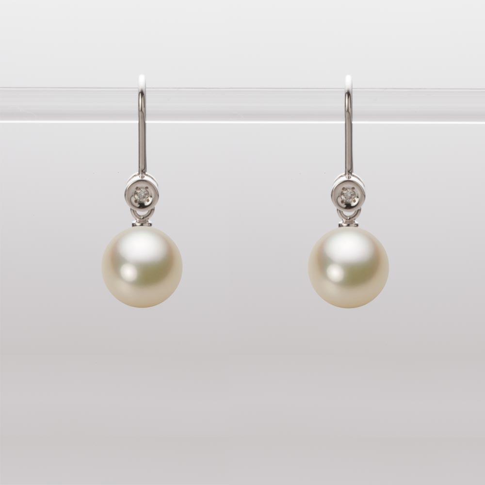 あこや真珠 パール ピアス 7.5mm アコヤ 真珠 ピアス K18WG ホワイトゴールド レディース HA00075R13CG0885W0