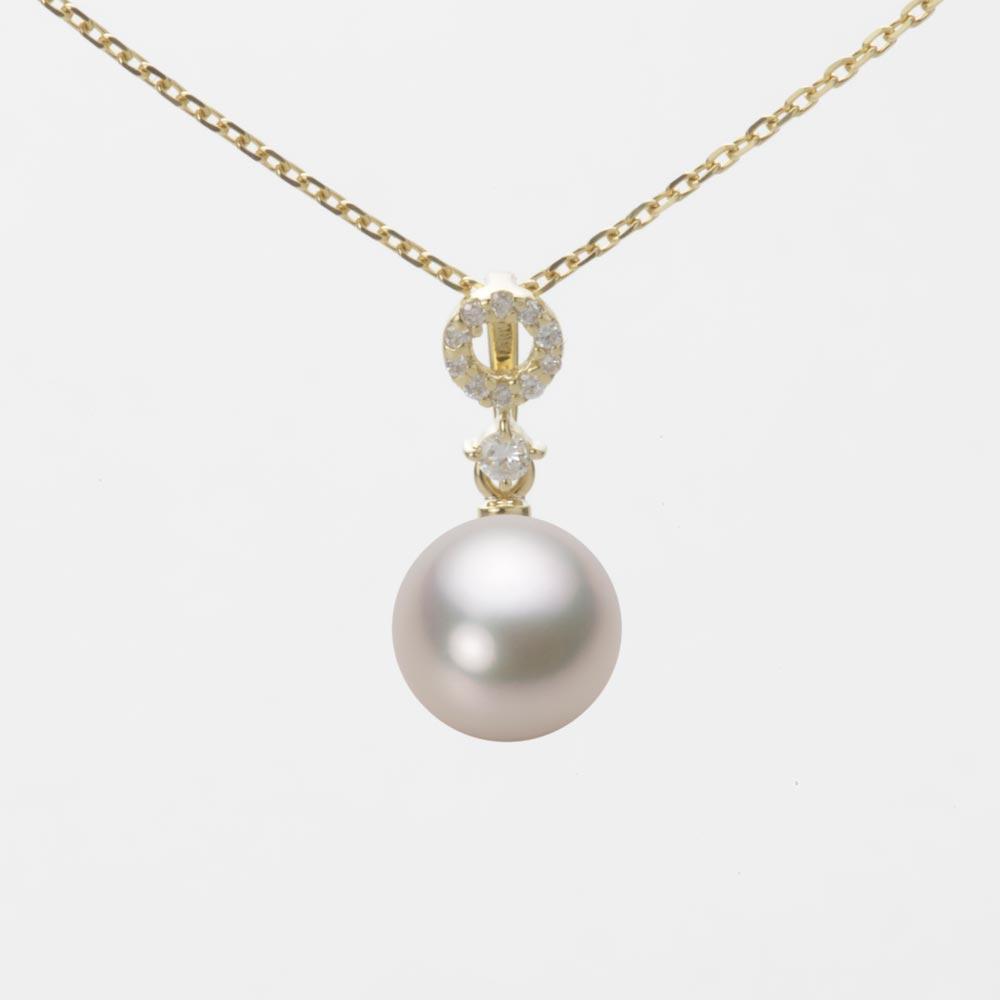 あこや真珠 パール ペンダント トップ 7.5mm アコヤ 真珠 ペンダント トップ K18 イエローゴールド レディース HA00075R13CW01474Y-T