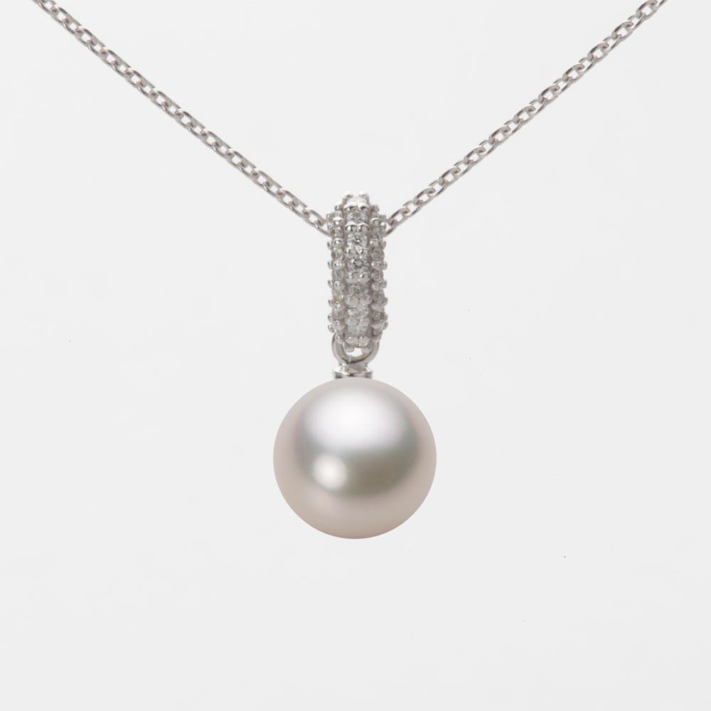 あこや真珠 パール ペンダント トップ 7.5mm アコヤ 真珠 ペンダント トップ K18WG ホワイトゴールド レディース HA00075R13CW01489W-T