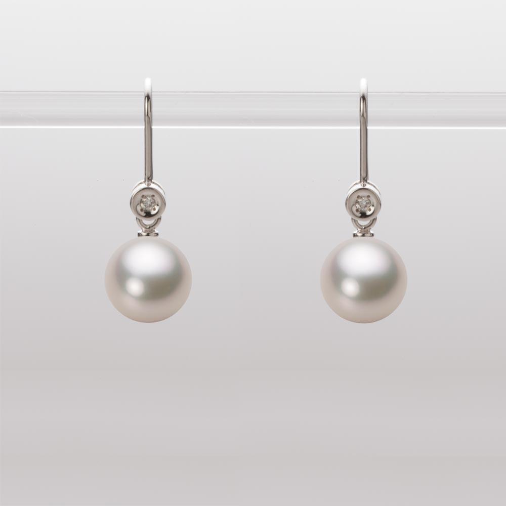 あこや真珠 パール ピアス 7.5mm アコヤ 真珠 ピアス K18WG ホワイトゴールド レディース HA00075R13CW0885W0