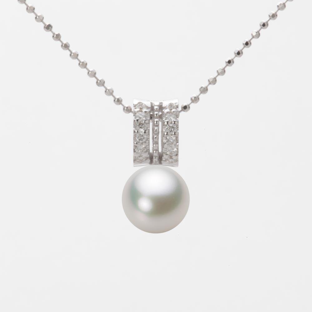 あこや真珠 パール ペンダント トップ 7.5mm アコヤ 真珠 ペンダント トップ K18WG ホワイトゴールド レディース HA00075R13NW01278W-T