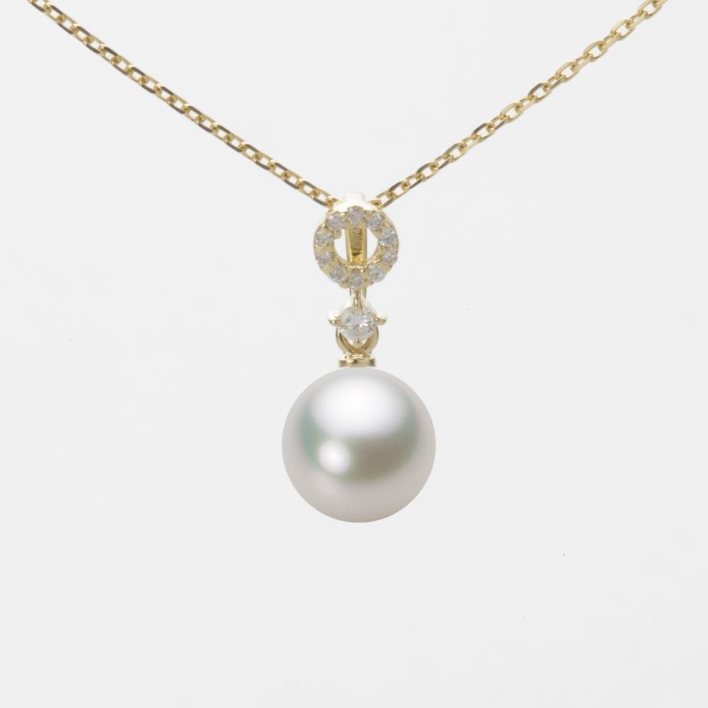 あこや真珠 パール ペンダント トップ 7.5mm アコヤ 真珠 ペンダント トップ K18 イエローゴールド レディース HA00075R13NW01474Y-T