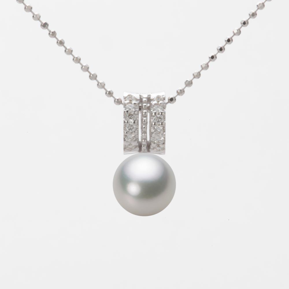 あこや真珠 パール ペンダント トップ 7.5mm アコヤ 真珠 ペンダント トップ K18WG ホワイトゴールド レディース HA00075R13SG01278W-T