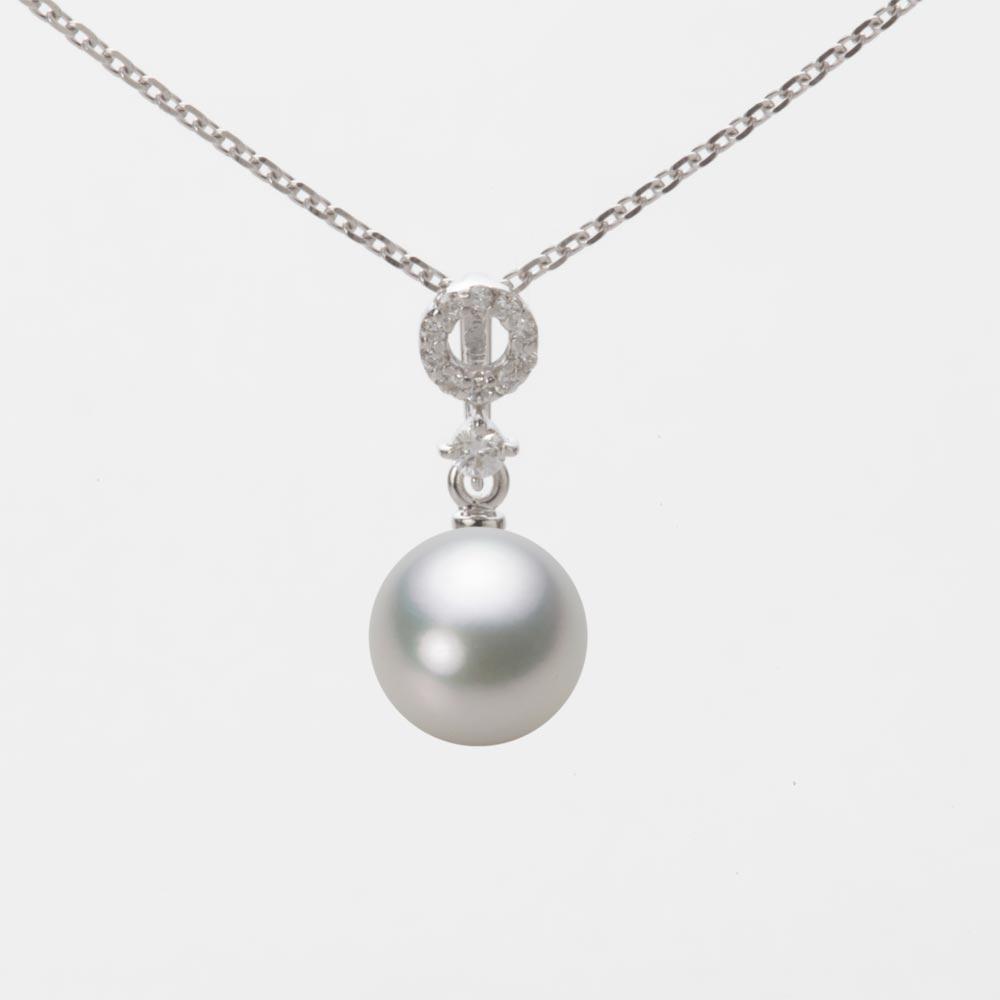 あこや真珠 パール ペンダント トップ 7.5mm アコヤ 真珠 ペンダント トップ K18WG ホワイトゴールド レディース HA00075R13SG01474W-T