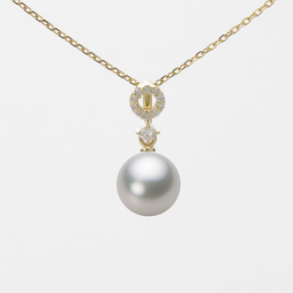 あこや真珠 パール ペンダント トップ 7.5mm アコヤ 真珠 ペンダント トップ K18 イエローゴールド レディース HA00075R13SG01474Y-T