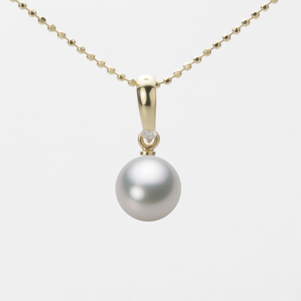 あこや真珠 パール ペンダント トップ 7.5mm アコヤ 真珠 ペンダント トップ K18 イエローゴールド レディース HA00075R13SG01500Y-T