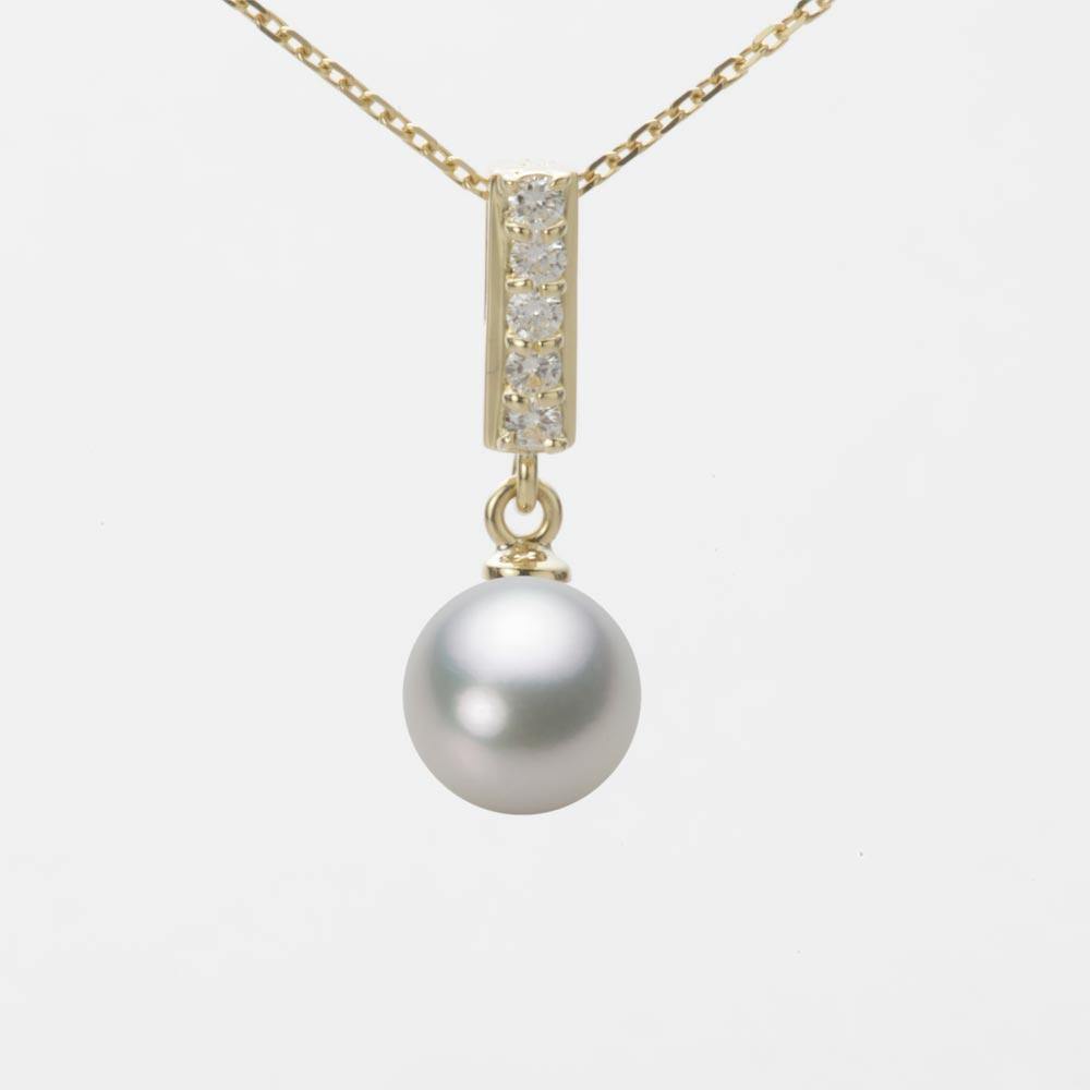 あこや真珠 パール ネックレス 7.5mm アコヤ 真珠 ペンダント K18 イエローゴールド レディース HA00075R13SG0314Y0