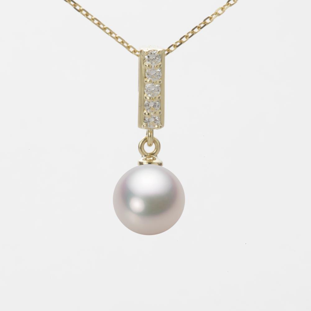 あこや真珠 パール ネックレス 7.5mm アコヤ 真珠 ペンダント K18 イエローゴールド レディース HA00075R13WPG314Y0