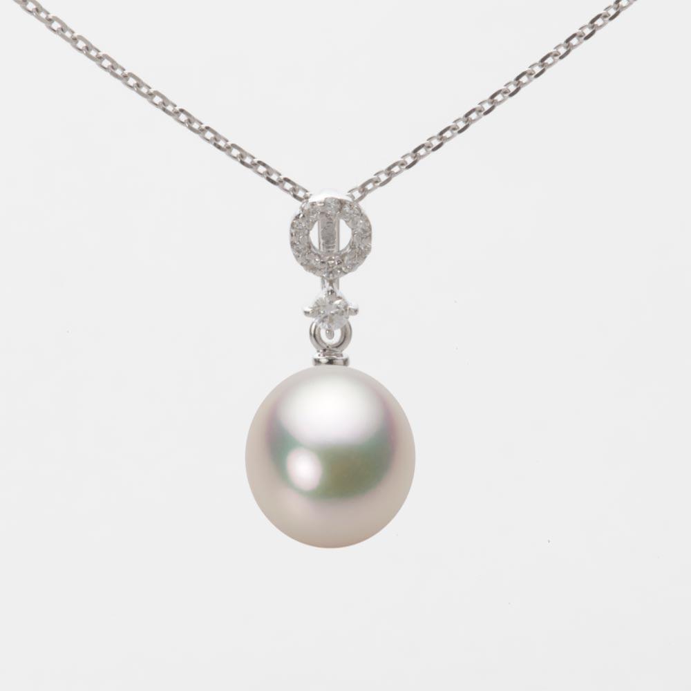 あこや真珠 パール ペンダント トップ 8.0mm アコヤ 真珠 ペンダント トップ K18WG ホワイトゴールド レディース HA00080D11CW01474W-T