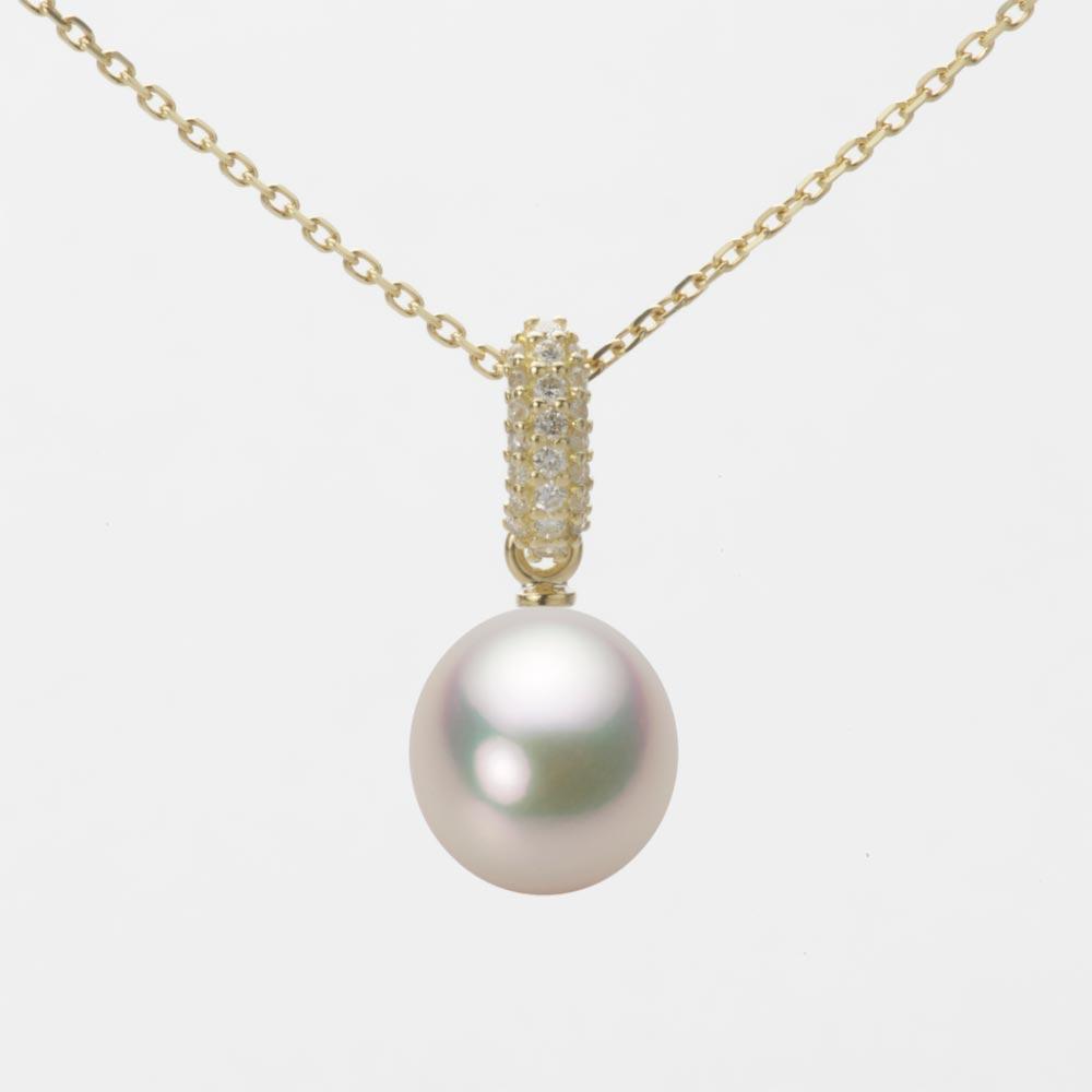 あこや真珠 パール ネックレス 8.0mm アコヤ 真珠 ペンダント K18 イエローゴールド レディース HA00080D11CW01489Y