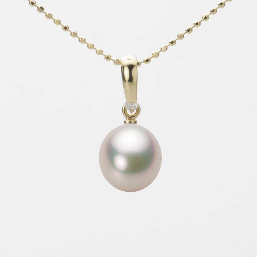 あこや真珠 パール ペンダント トップ 8.0mm アコヤ 真珠 ペンダント トップ K18 イエローゴールド レディース HA00080D11CW01500Y-T