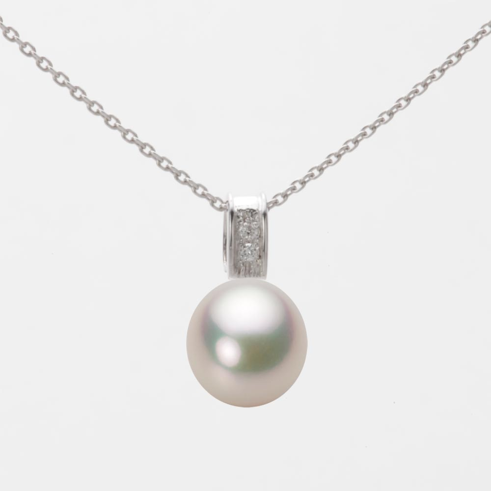 あこや真珠 パール ネックレス 8.0mm アコヤ 真珠 ペンダント K18WG ホワイトゴールド レディース HA00080D11CW0647W0
