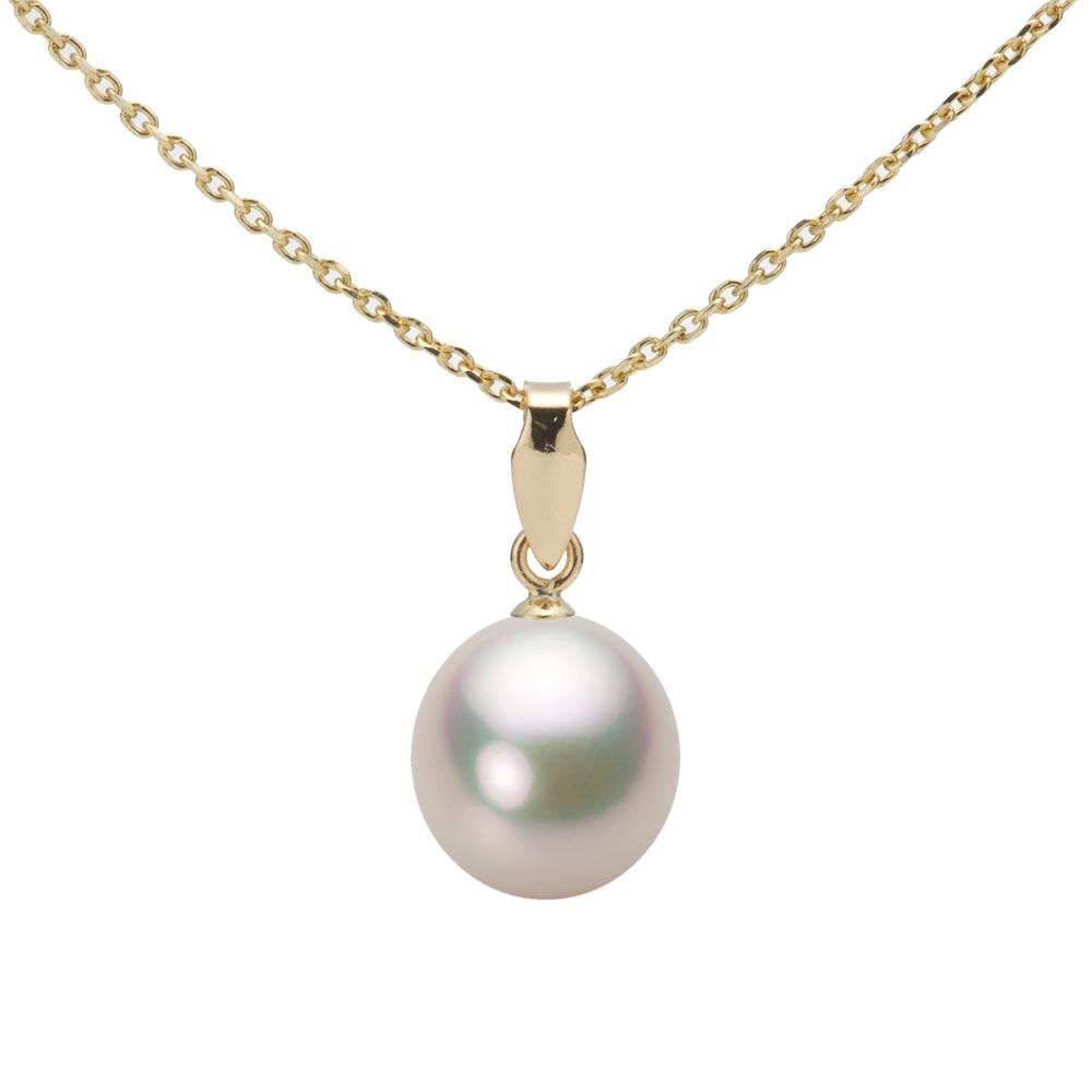 あこや真珠 パール ネックレス 8.0mm アコヤ 真珠 ペンダント K18 イエローゴールド レディース HA00080D11CW0U5Y00