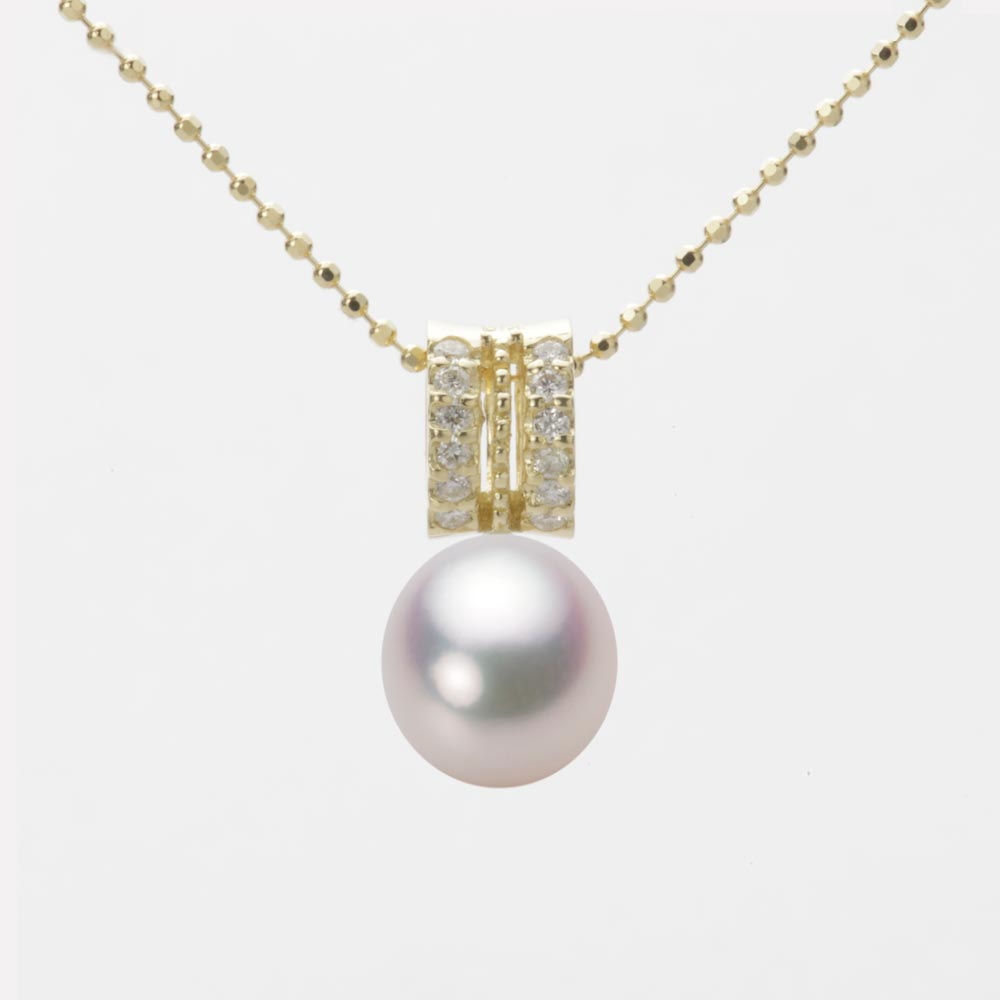 あこや真珠 パール ネックレス 8.0mm アコヤ 真珠 ペンダント K18 イエローゴールド レディース HA00080D11WPG1278Y