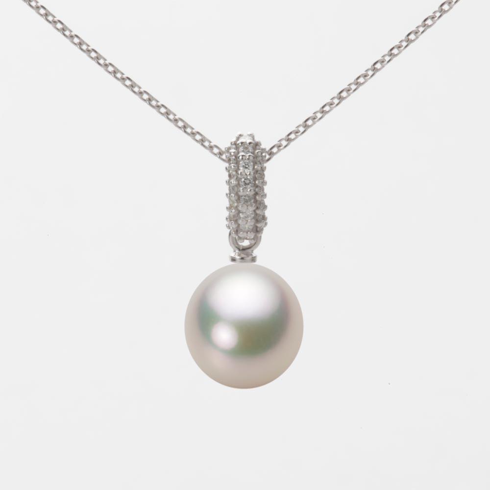 ネックレス ペンダント あこや真珠 真珠 ホワイトゴールド パール アコヤ 8.0mm K18WG HA00080D12CW01489W レディース
