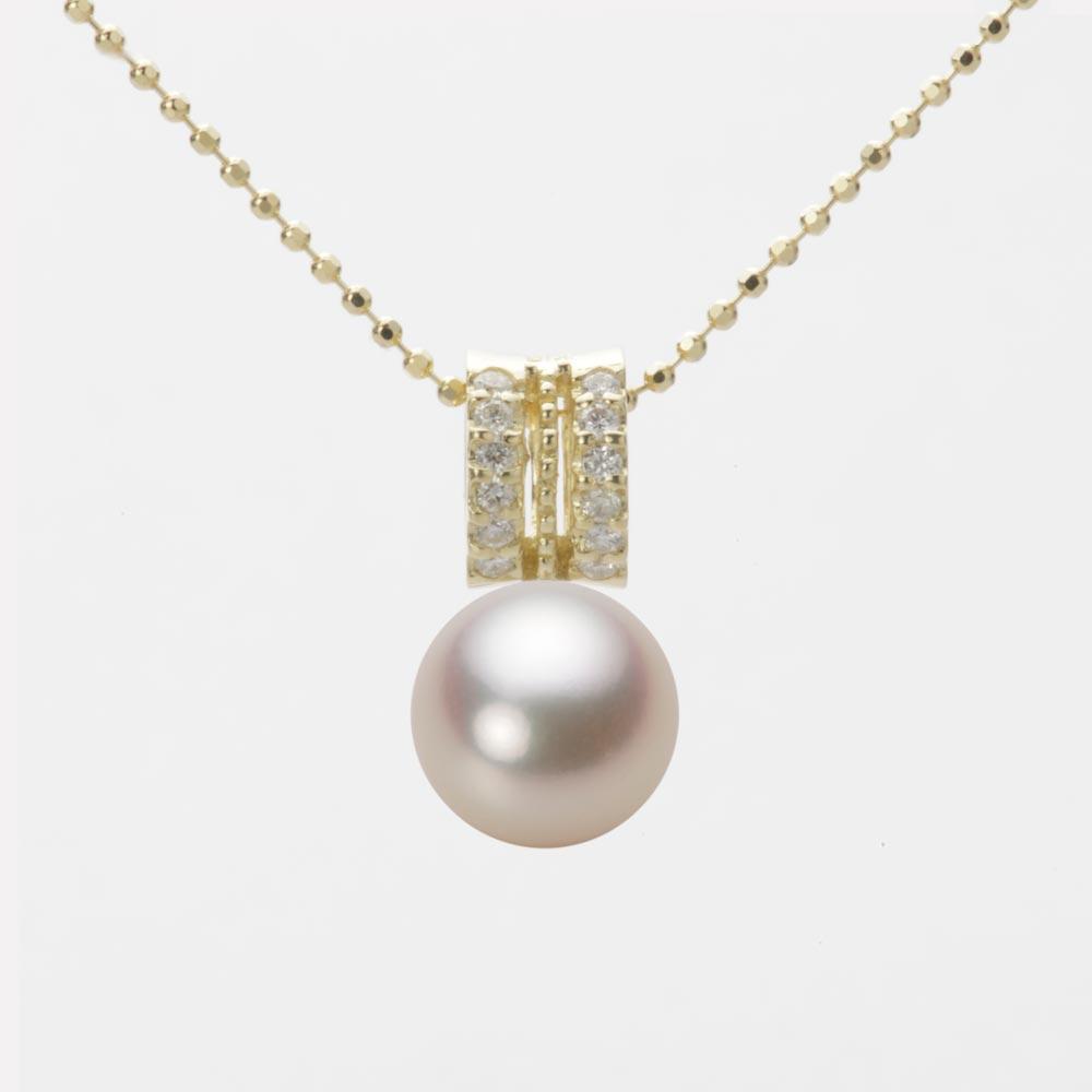 あこや真珠 パール ペンダント トップ 8.0mm アコヤ 真珠 ペンダント トップ K18 イエローゴールド レディース HA00080R11CG01278Y-T