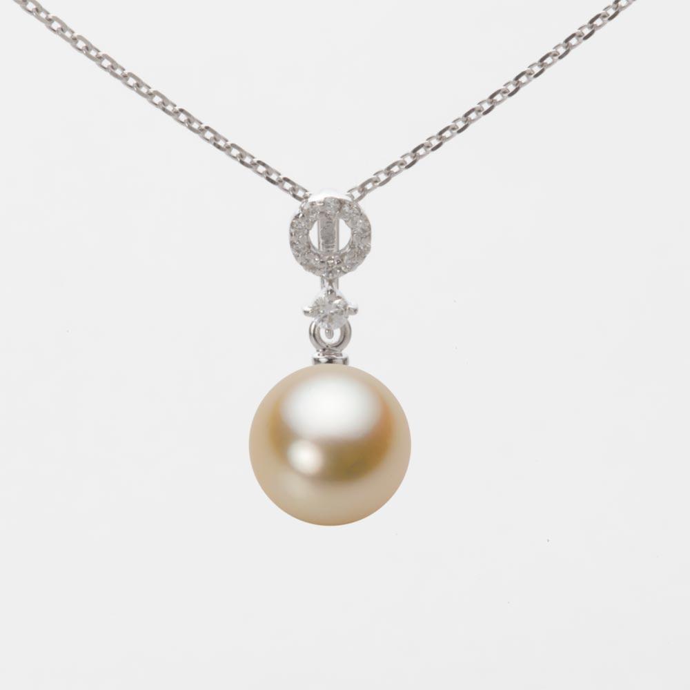 あこや真珠 パール ネックレス 8.0mm アコヤ 真珠 ペンダント K18WG ホワイトゴールド レディース HA00080R11NG01474W