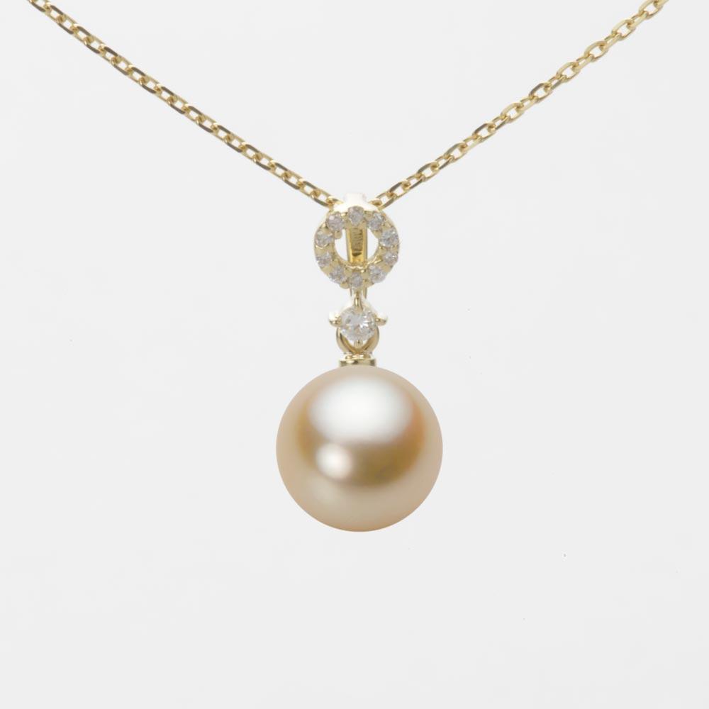 あこや真珠 パール ネックレス 8.0mm アコヤ 真珠 ペンダント K18 イエローゴールド レディース HA00080R11NG01474Y