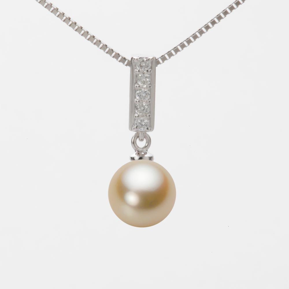 あこや真珠 パール ペンダント トップ 8.0mm アコヤ 真珠 ペンダント トップ K18WG ホワイトゴールド レディース HA00080R11NG0314W0-T