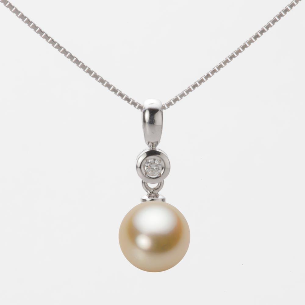 あこや真珠 パール ペンダント トップ 8.0mm アコヤ 真珠 ペンダント トップ K18WG ホワイトゴールド レディース HA00080R11NG0725W0-T