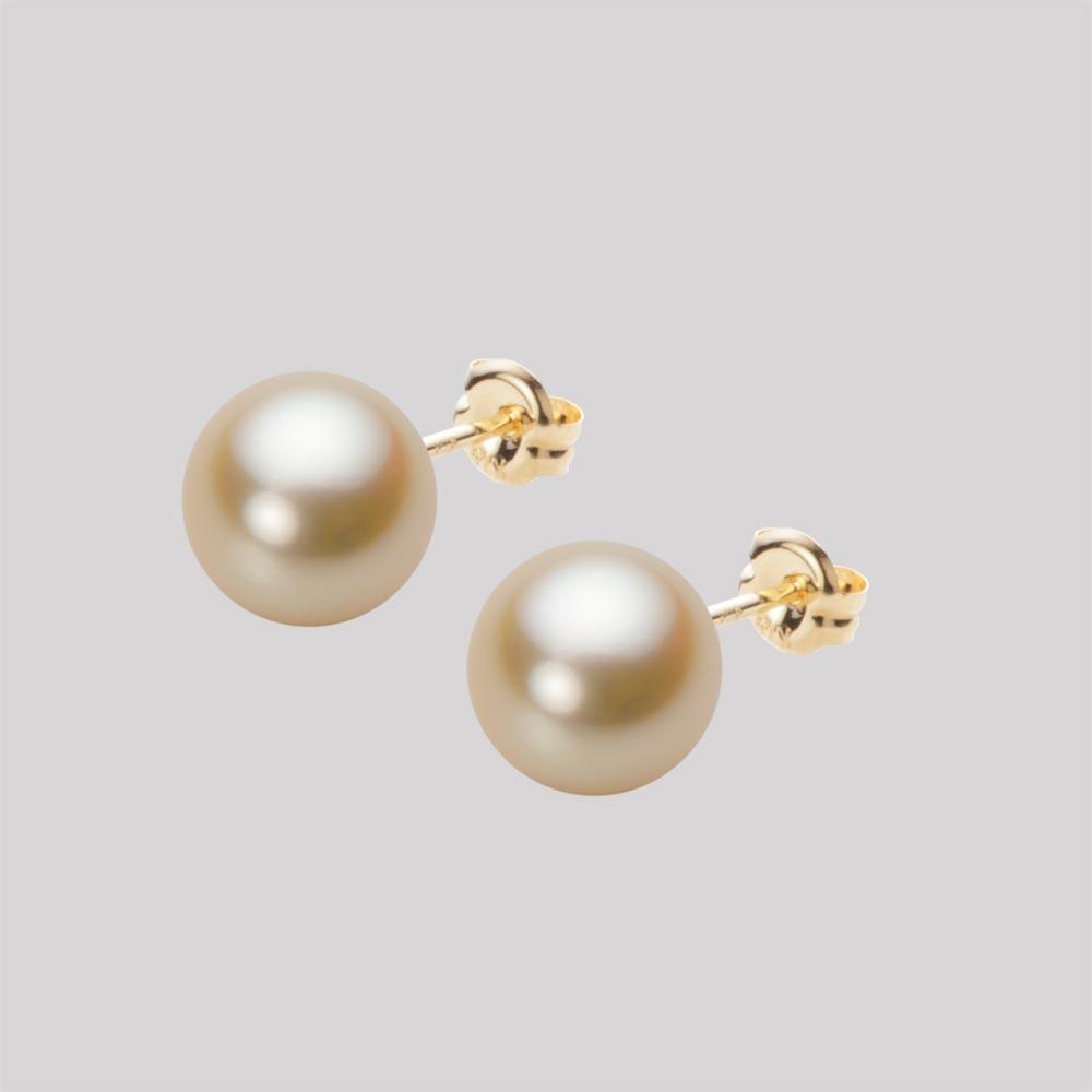 あこや真珠 パール ピアス 8.0mm アコヤ 真珠 ピアス K18 イエローゴールド レディース HA00080R11NG0PA03Y