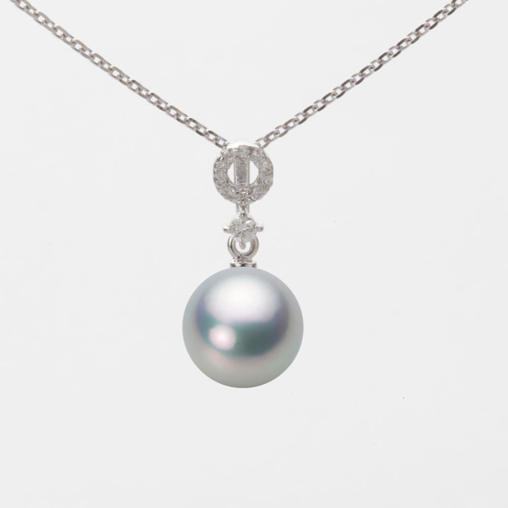 あこや真珠 パール ネックレス 8.0mm アコヤ 真珠 ペンダント K18WG ホワイトゴールド レディース HA00080R11SG01474W