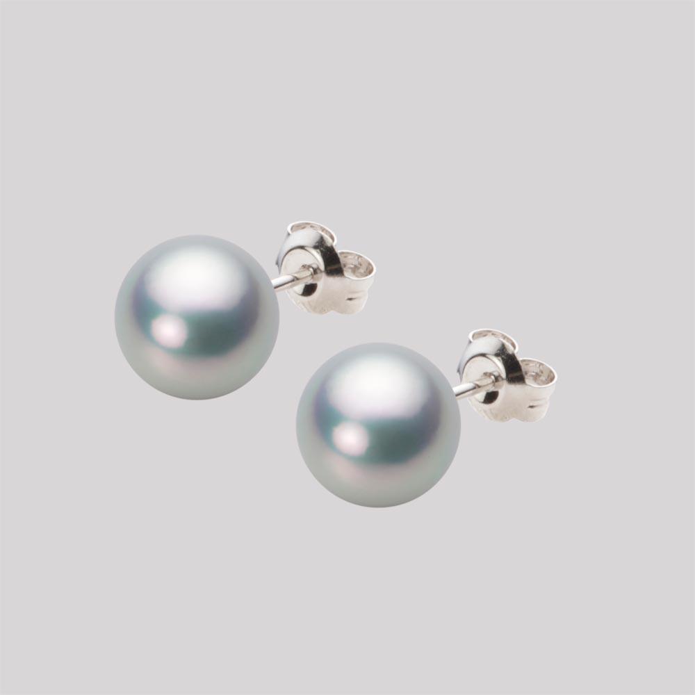 あこや真珠 パール ピアス 8.0mm アコヤ 真珠 ピアス K14WG ホワイトゴールド レディース HA00080R11SG0PA02W
