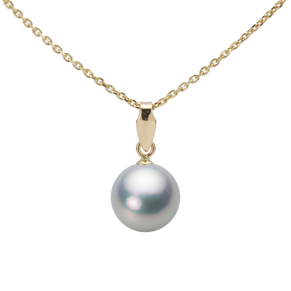 あこや真珠 パール ネックレス 8.0mm アコヤ 真珠 ペンダント K18 イエローゴールド レディース HA00080R11SG0U5Y00
