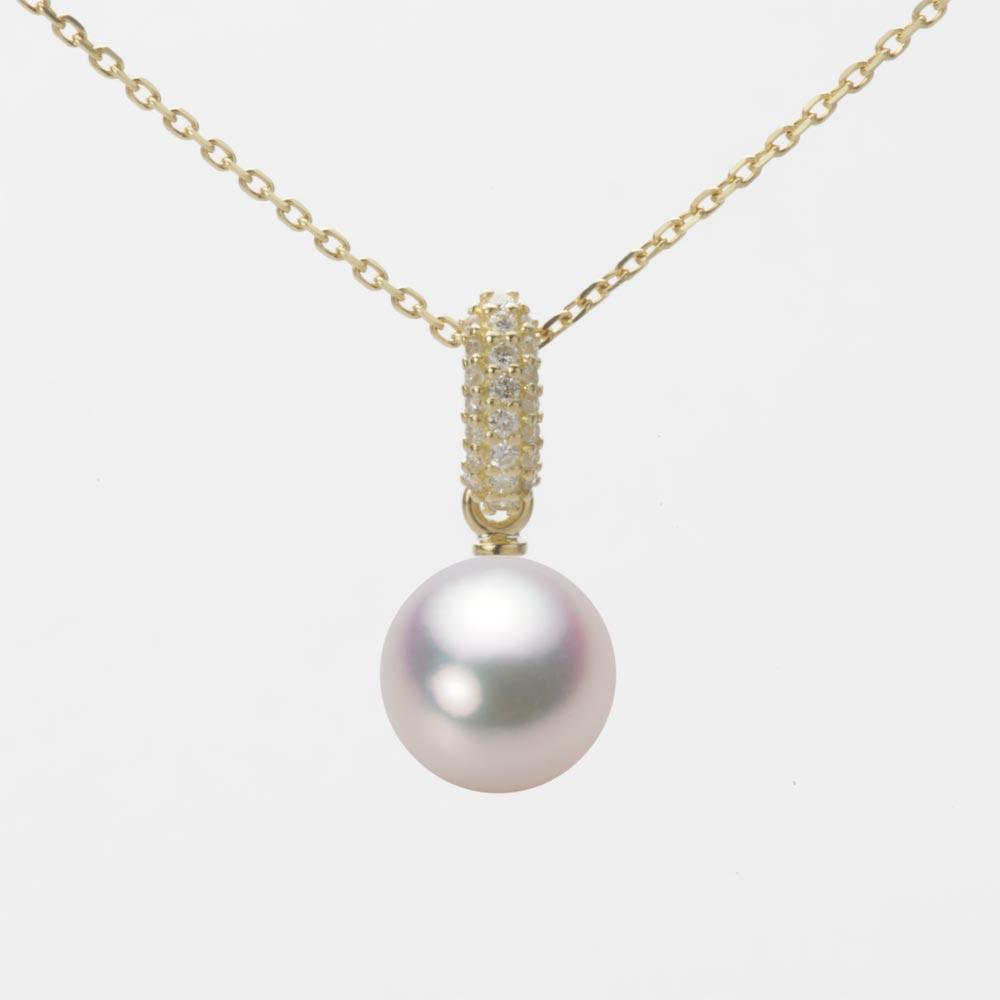 あこや真珠 パール ネックレス 8.0mm アコヤ 真珠 ペンダント K18 イエローゴールド レディース HA00080R11WPG1489Y