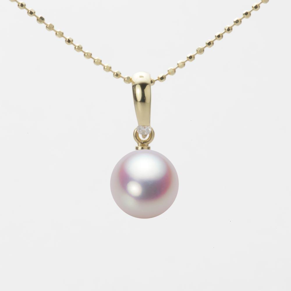 あこや真珠 パール ネックレス 8.0mm アコヤ 真珠 ペンダント K18 イエローゴールド レディース HA00080R11WPN1500Y