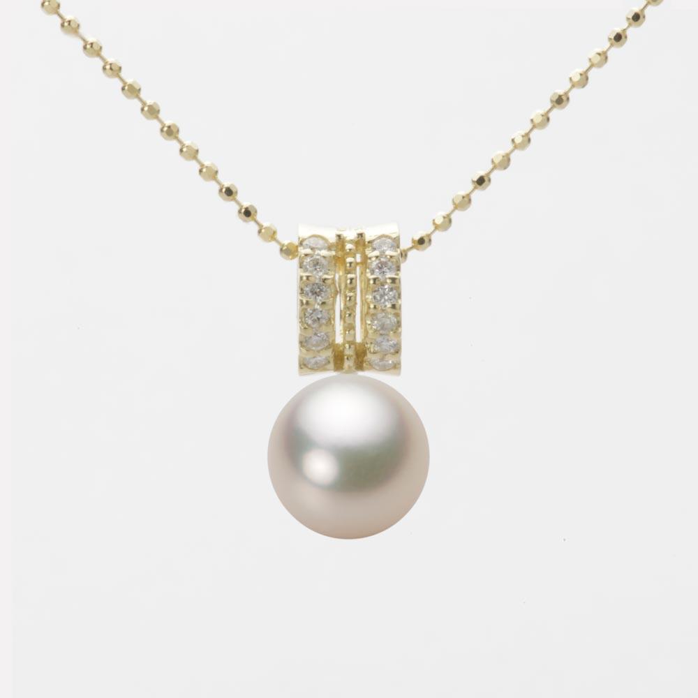 あこや真珠 パール ペンダント トップ 8.0mm アコヤ 真珠 ペンダント トップ K18 イエローゴールド レディース HA00080R12CG01278Y-T