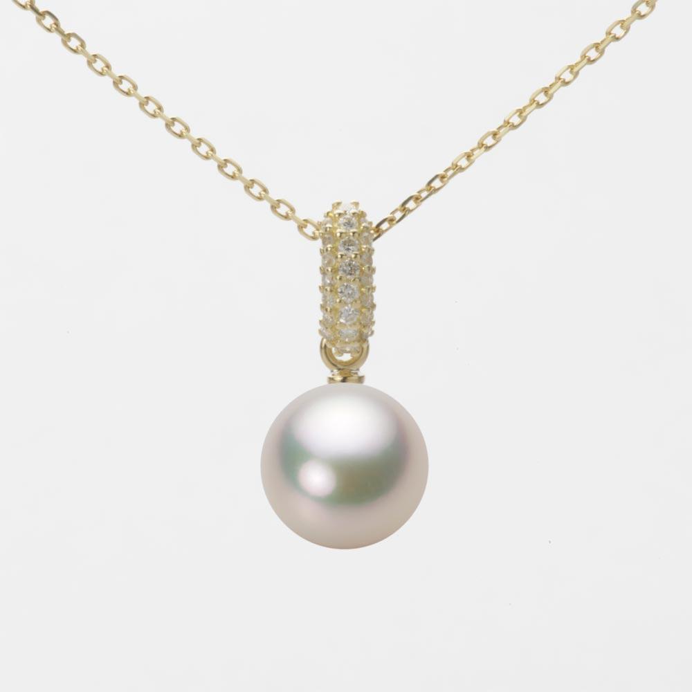 あこや真珠 パール ペンダント トップ 8.0mm アコヤ 真珠 ペンダント トップ K18 イエローゴールド レディース HA00080R12CW01489Y-T