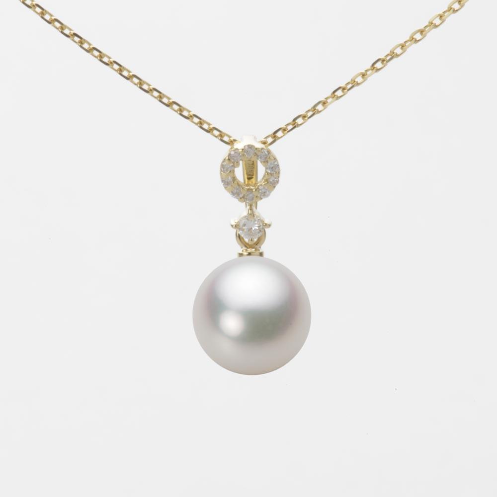 あこや真珠 パール ペンダント トップ 8.0mm アコヤ 真珠 ペンダント トップ K18 イエローゴールド レディース HA00080R12NW01474Y-T