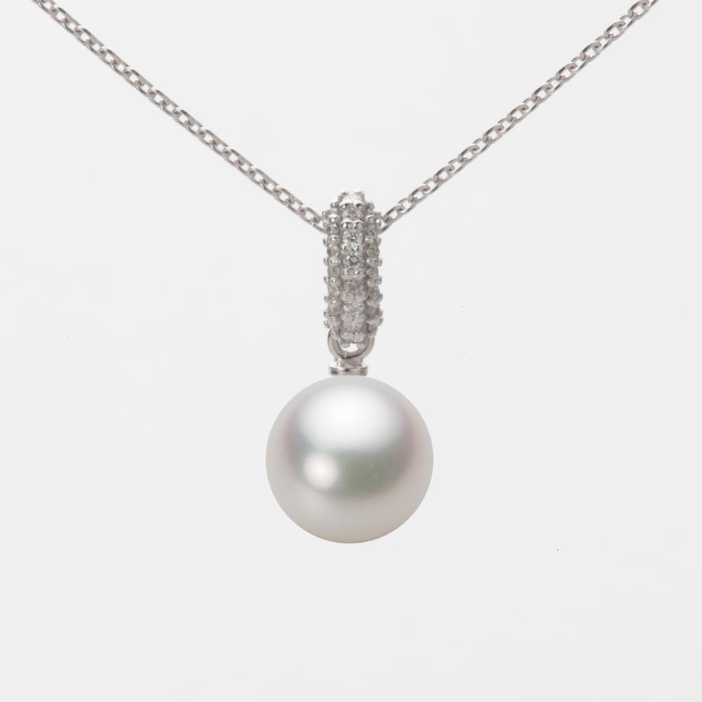 あこや真珠 パール ネックレス 8.0mm アコヤ 真珠 ペンダント K18WG ホワイトゴールド レディース HA00080R12NW01489W