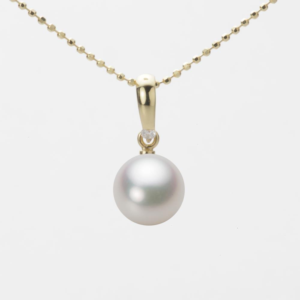 あこや真珠 パール ペンダント トップ 8.0mm アコヤ 真珠 ペンダント トップ K18 イエローゴールド レディース HA00080R12NW01500Y-T