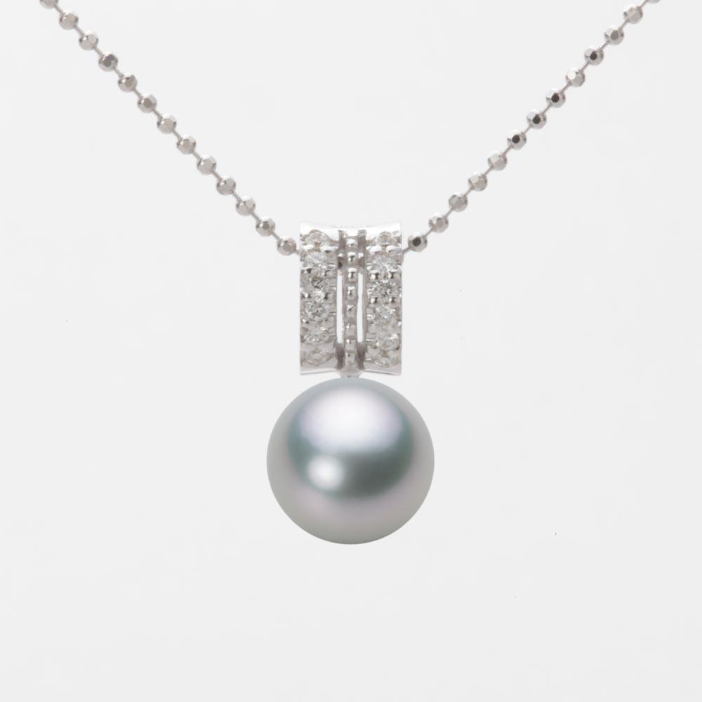 あこや真珠 パール ネックレス 8.0mm アコヤ 真珠 ペンダント K18WG ホワイトゴールド レディース HA00080R12SG01278W