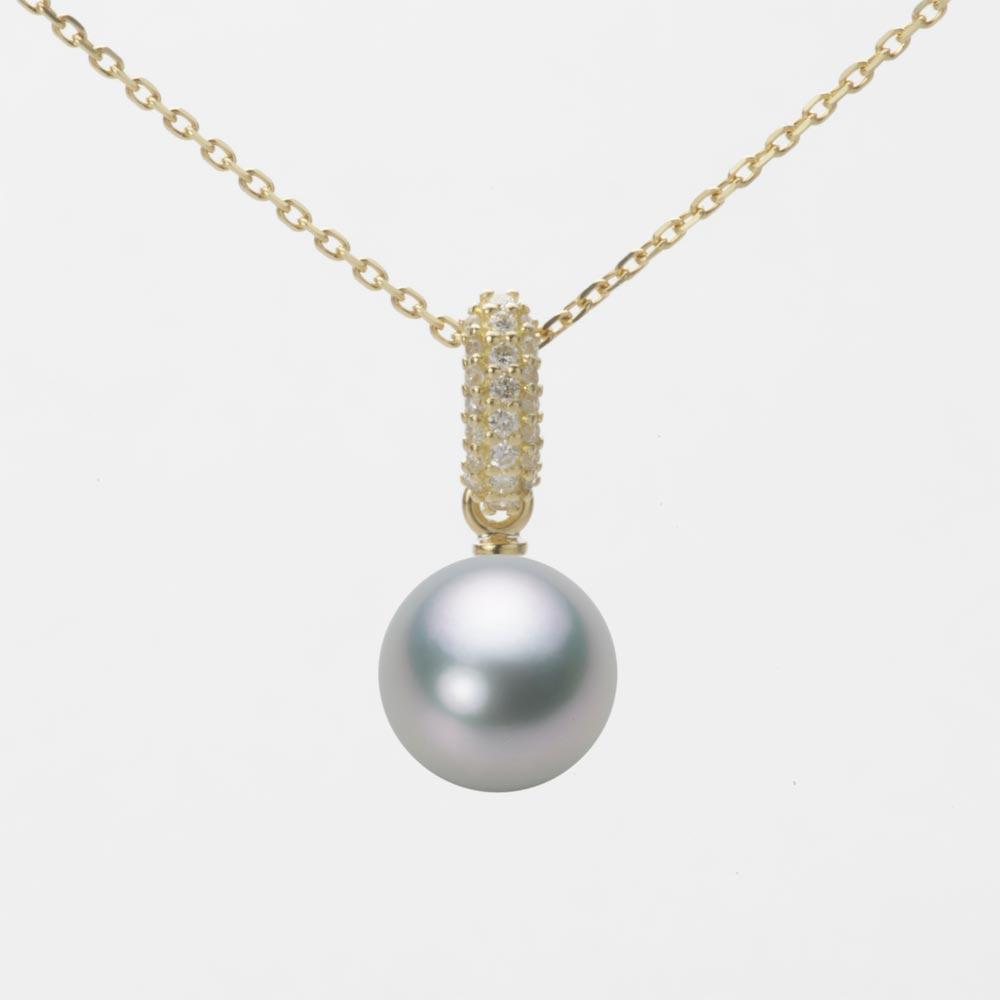 あこや真珠 パール ネックレス 8.0mm アコヤ 真珠 ペンダント K18 イエローゴールド レディース HA00080R12SG01489Y