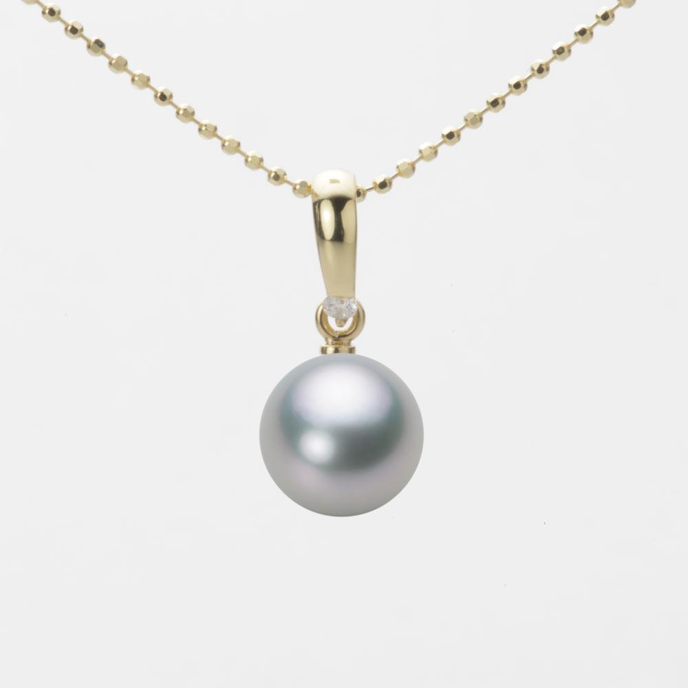 あこや真珠 パール ネックレス 8.0mm アコヤ 真珠 ペンダント K18 イエローゴールド レディース HA00080R12SG01500Y