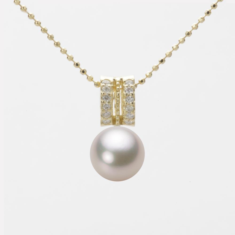 あこや真珠 パール ペンダント トップ 8.0mm アコヤ 真珠 ペンダント トップ K18 イエローゴールド レディース HA00080R13CW01278Y-T