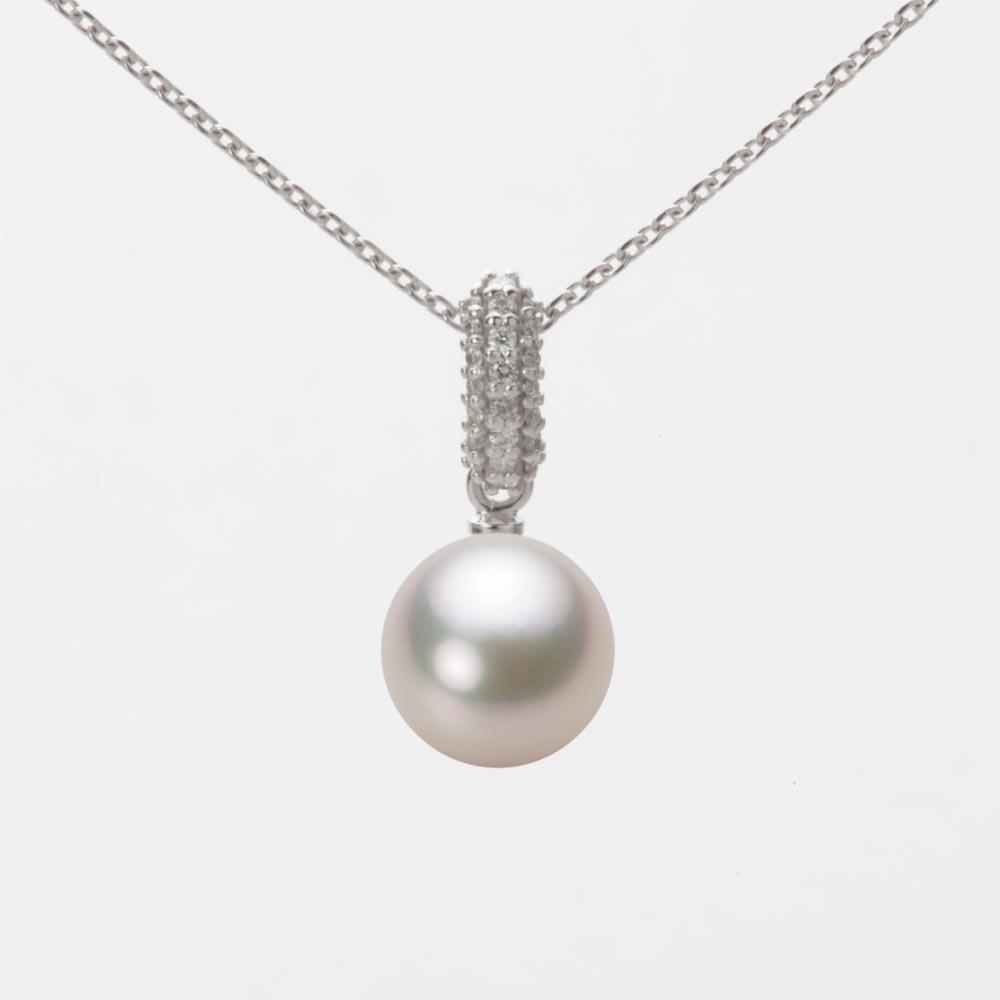 あこや真珠 パール ネックレス 8.0mm アコヤ 真珠 ペンダント K18WG ホワイトゴールド レディース HA00080R13CW01489W