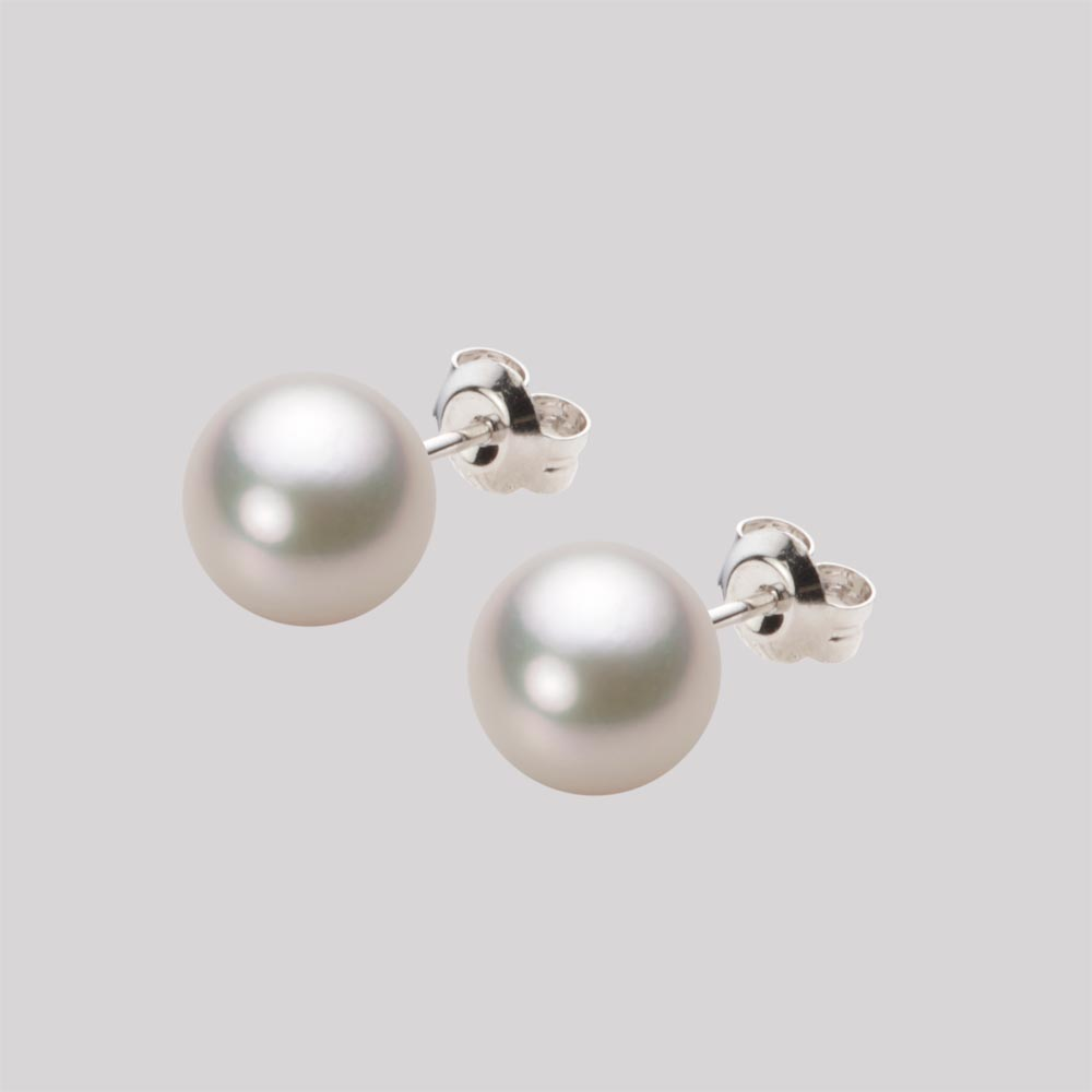 あこや真珠 パール ピアス 8.0mm アコヤ 真珠 ピアス K14WG ホワイトゴールド レディース HA00080R13CW0PA02W