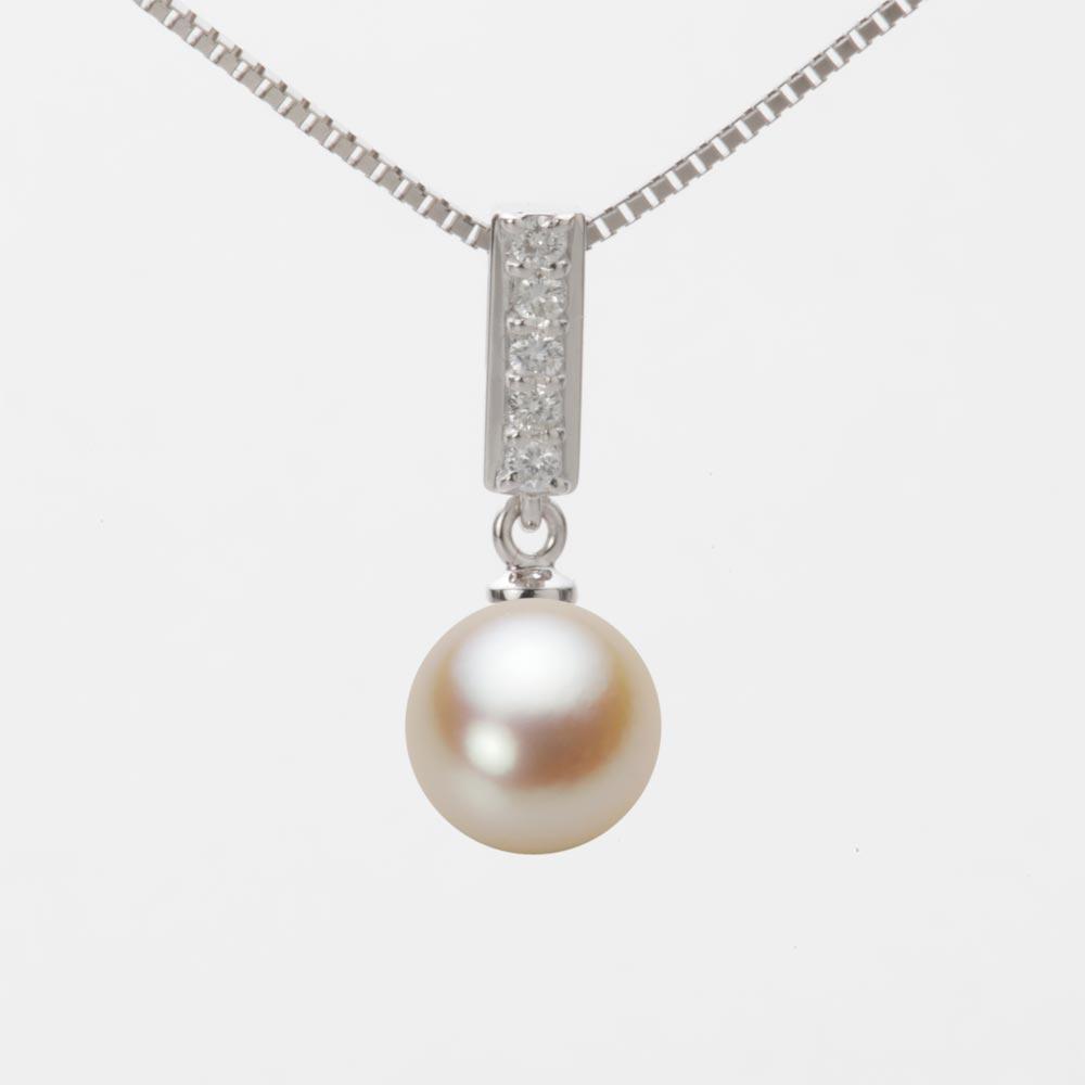 あこや真珠 パール ペンダント トップ 8.0mm アコヤ 真珠 ペンダント トップ K18WG ホワイトゴールド レディース HA00080R13NG0314W0-T