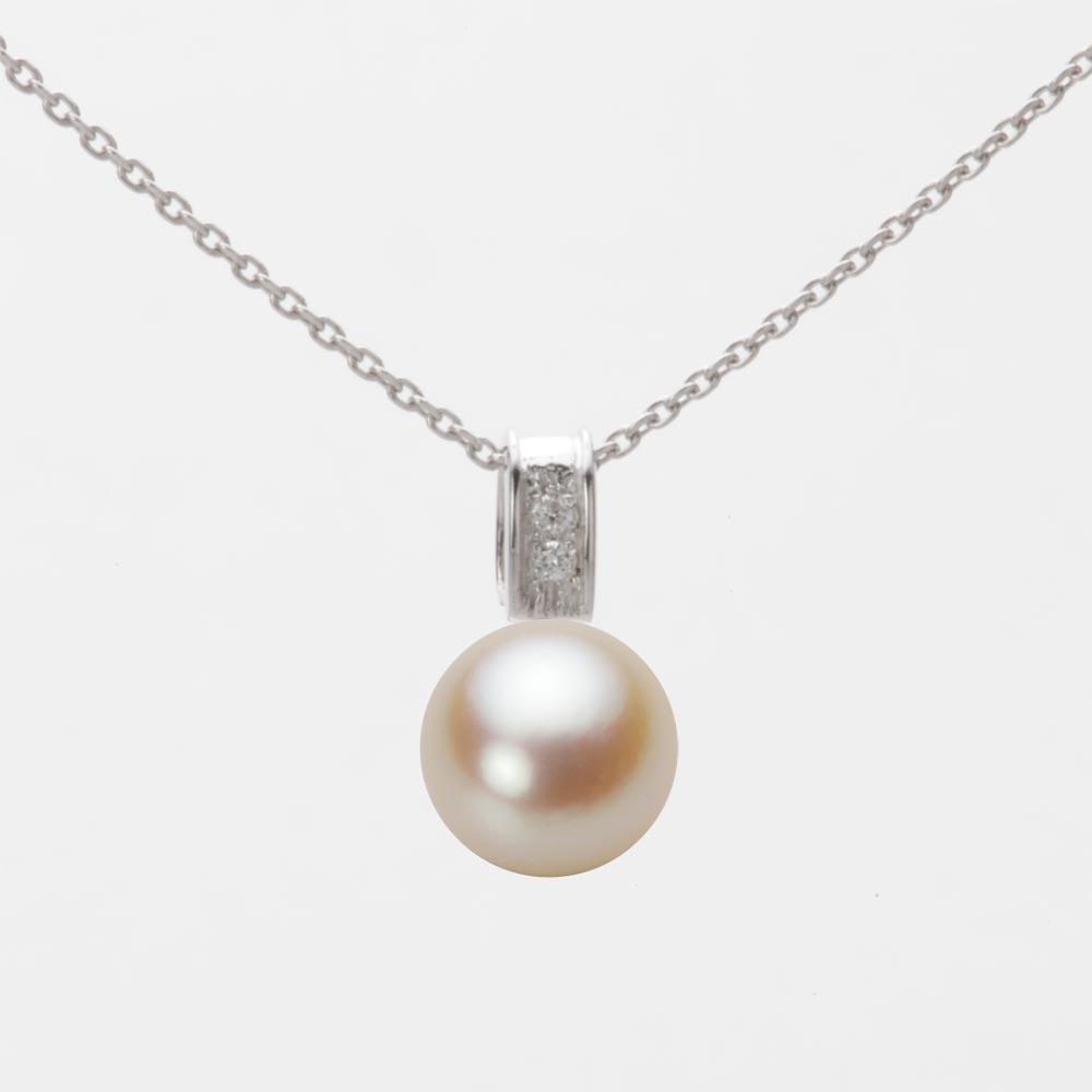 あこや真珠 パール ペンダント トップ 8.0mm アコヤ 真珠 ペンダント トップ K18WG ホワイトゴールド レディース HA00080R13NG0647W0-T