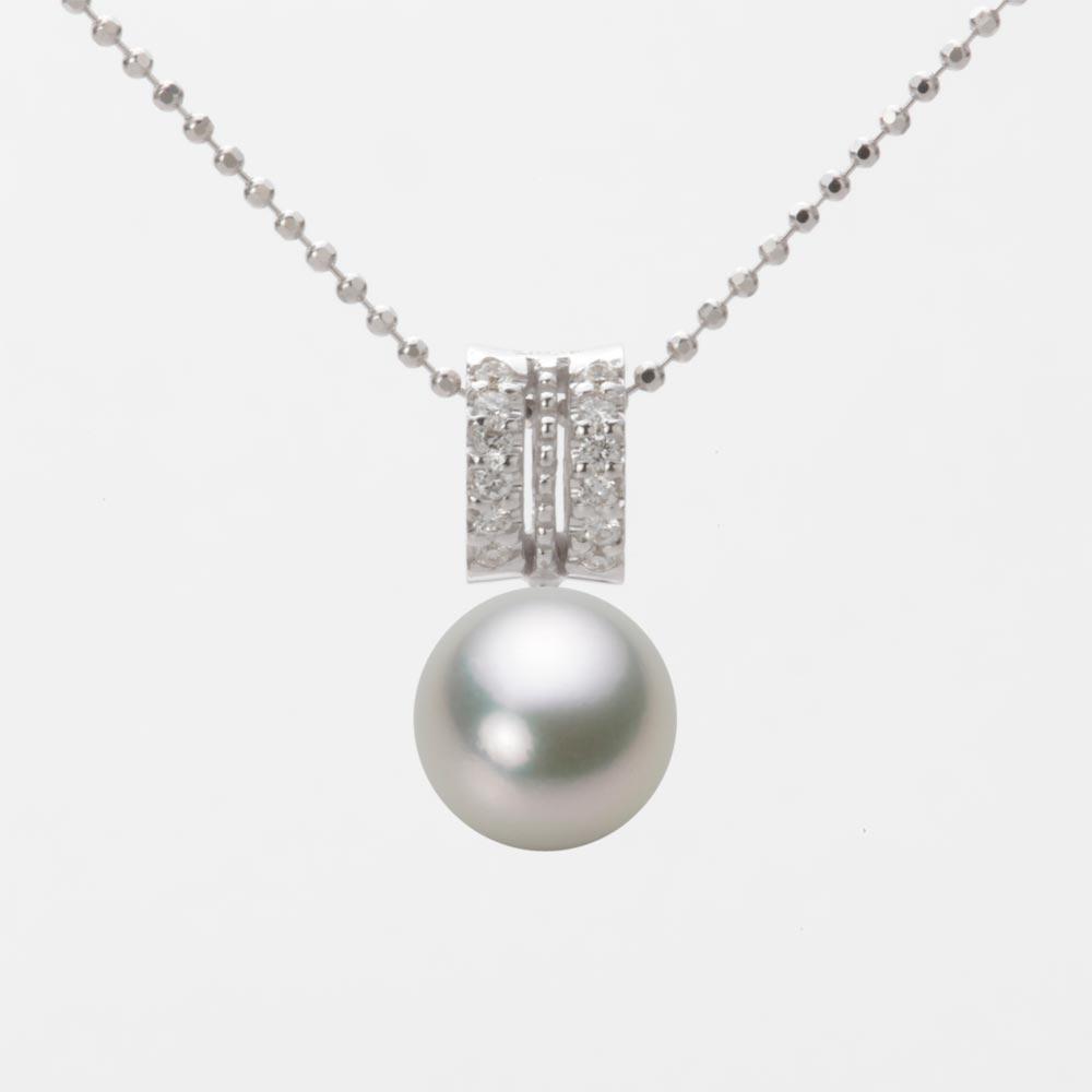 あこや真珠 パール ペンダント トップ 8.0mm アコヤ 真珠 ペンダント トップ K18WG ホワイトゴールド レディース HA00080R13SG01278W-T
