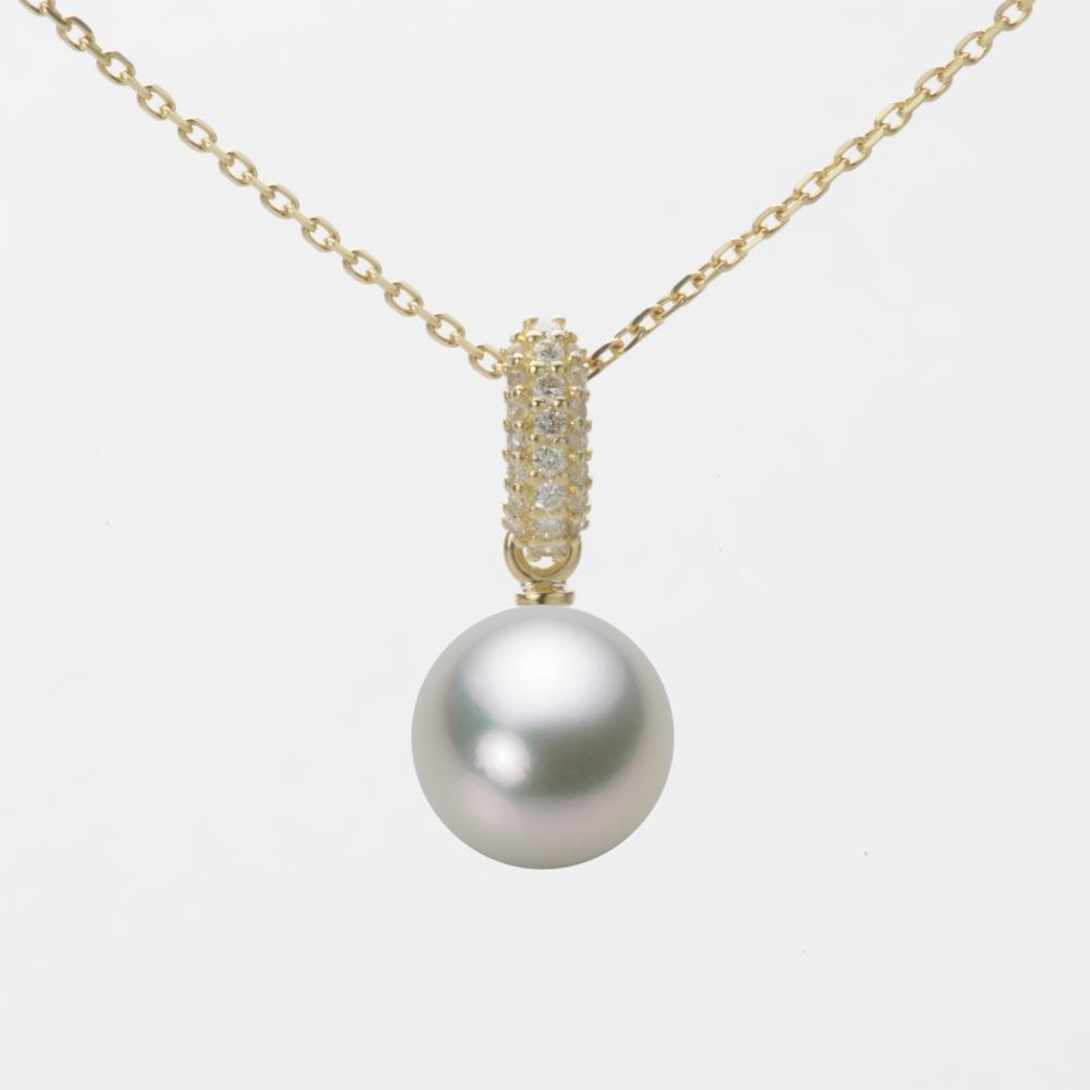 あこや真珠 パール ネックレス 8.0mm アコヤ 真珠 ペンダント K18 イエローゴールド レディース HA00080R13SG01489Y