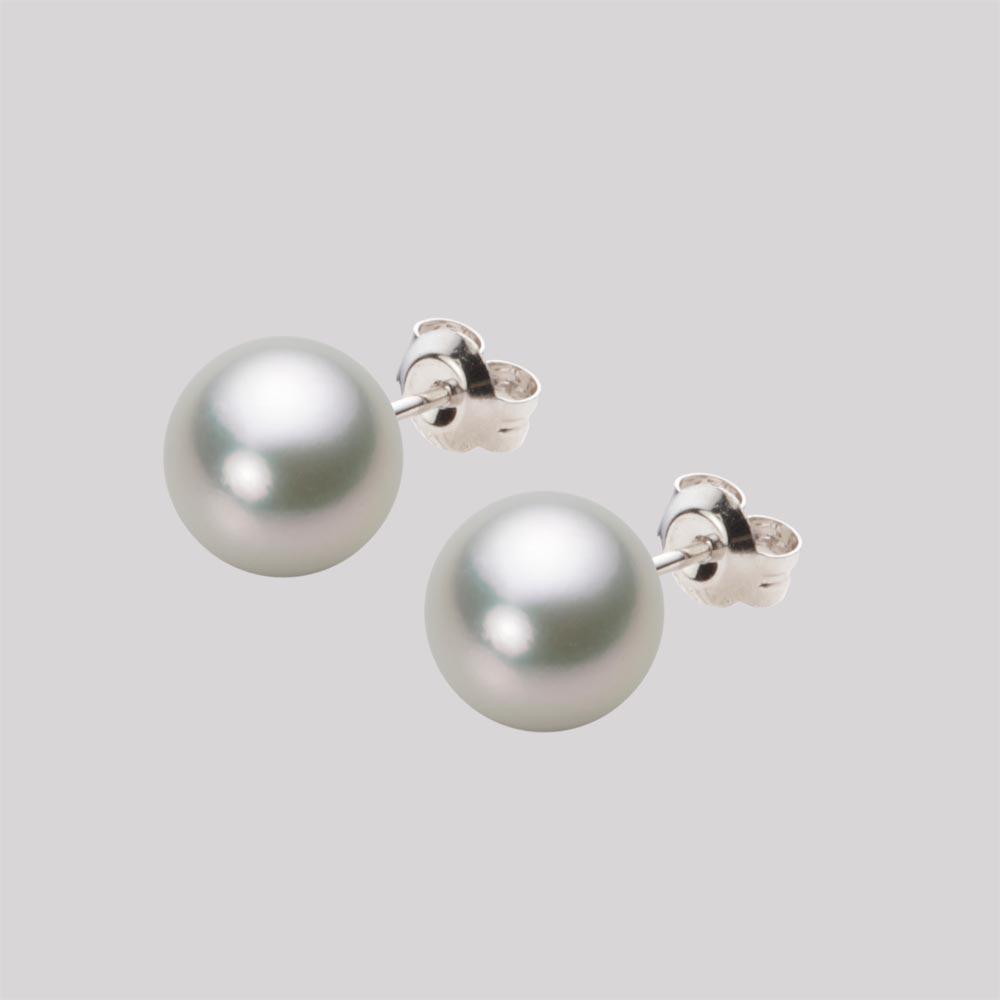 あこや真珠 パール ピアス 8.0mm アコヤ 真珠 ピアス K14WG ホワイトゴールド レディース HA00080R13SG0PA02W